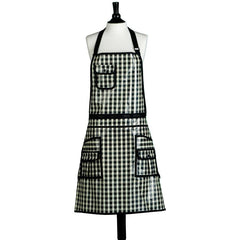Jessie Steele Black & White Check Convertible Unisex Apron