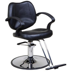 """Mae"" Classic Beauty Salon Styling Chair, Black"