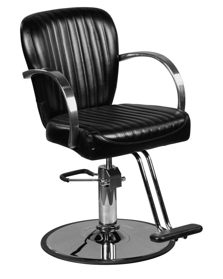 """Lauren"" Black Salon Styling Chair Round Base Styling Chairs Icarus Default Title"