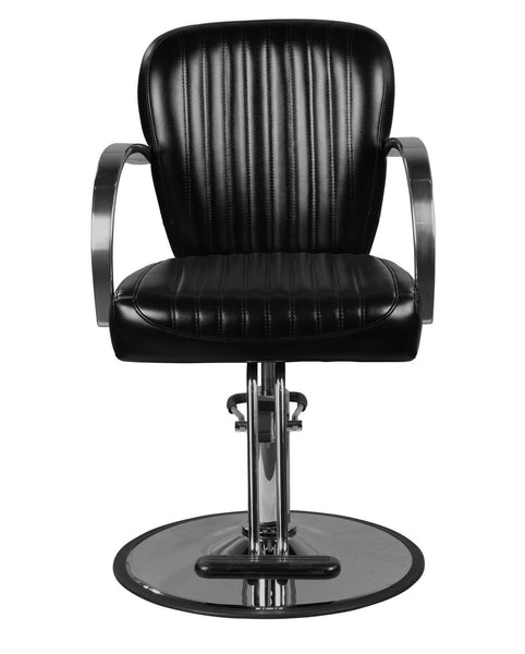 """Lauren"" Black Salon Styling Chair Round Base"