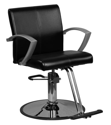"""Niro"" Black Contemporary Styling Chair Pointed Handles"