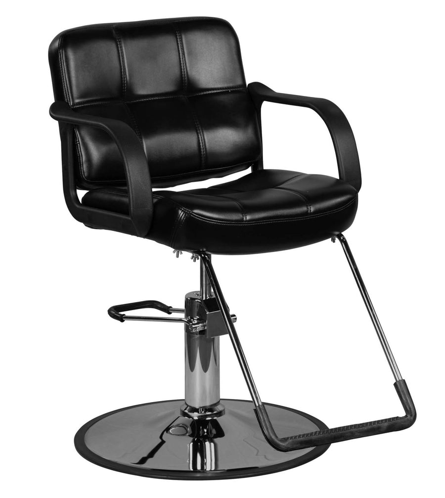 """Caine"" Black Classic Beauty Salon Hydraulic Styling Chair Styling Chairs Icarus Default Title"
