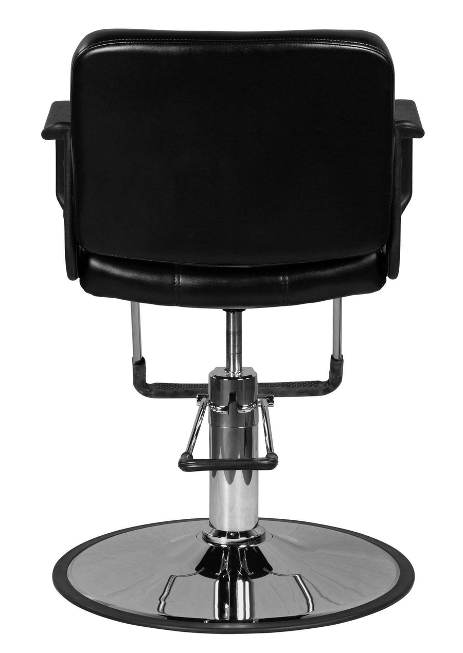 """Caine"" Black Classic Beauty Salon Hydraulic Styling Chair Styling Chairs Icarus"