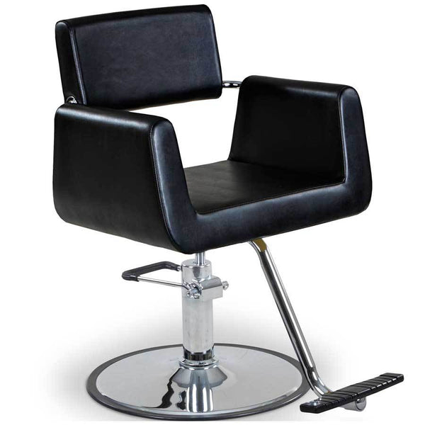 """Hepburn"" Beauty Salon Styling Chair Styling Chairs Icarus Chrome Round Base"