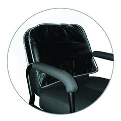 Icarus Black Salon Chair Back Cover, Round Corner