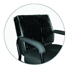 Icarus Black Salon Chair Back Cover, Square Corner