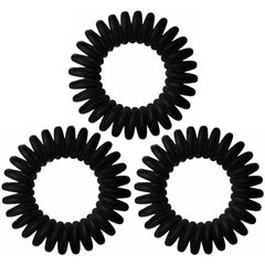 Hair Tamer Hair Rings - 3 ct Hair Barrettes, Bands & Ties Hair Tamer Black