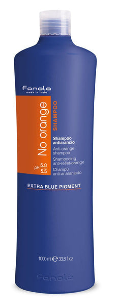 Fanola No Orange Shampoo or Mask Hair Shampoos Fanola Shampoo, 1000 ml