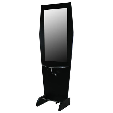 """Boston"" Black Single Salon Styling Station With Mirror"