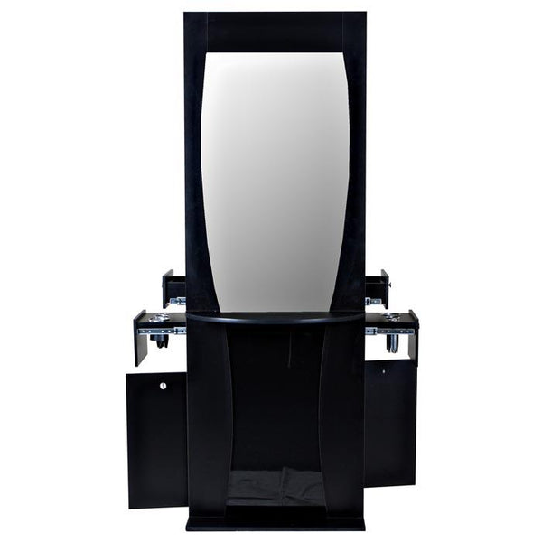 """Newark"" Double Salon Styling Station With Mirror"