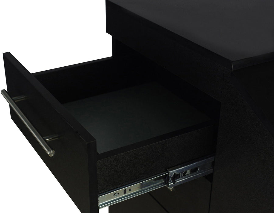"""Anaheim"" Black Rolling Styling Station Styling Stations & Cabinets Icarus"