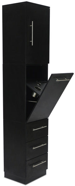"Icarus ""Spokane"" Black Tower Styling Station Styling Stations & Cabinets Icarus"