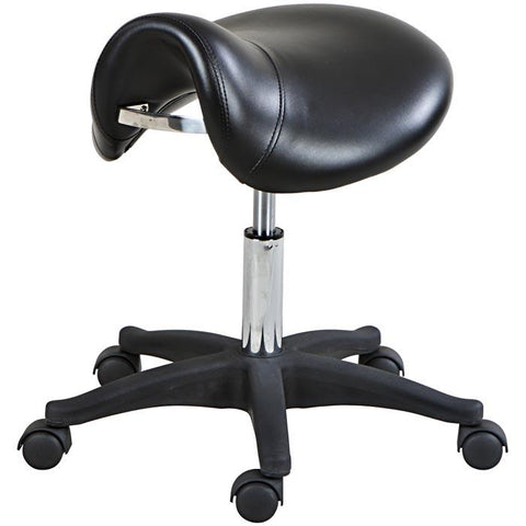 """Rodeo"" Hydraulic Salon Stool, Black"