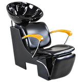 """Reynolds"" Black Beauty Salon Shampoo Chair & Sink Bowl Unit Shampoo Backwash Units Icarus Default Title"