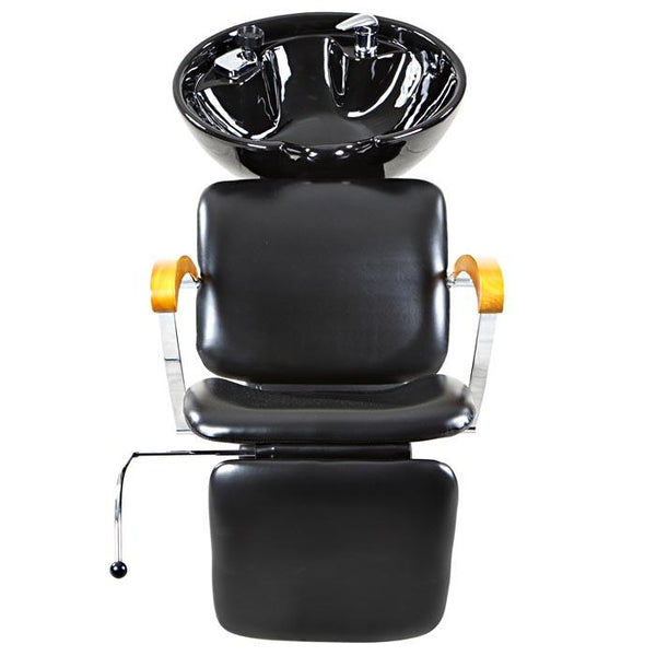 """Reynolds"" Black Beauty Salon Shampoo Chair & Sink Bowl Unit Shampoo Backwash Units Icarus"