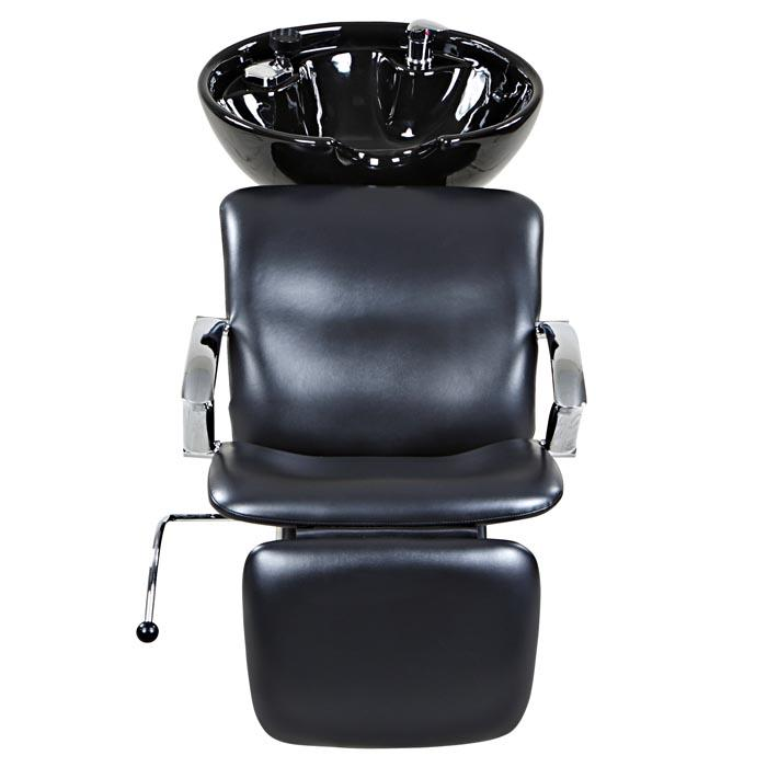 """Davis"" Black Beauty Salon Shampoo Chair & Sink Bowl Unit Shampoo Backwash Units Icarus"