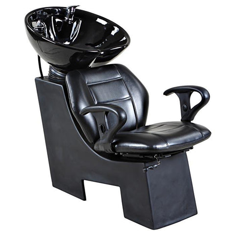 """Universal"" Black Beauty Salon Shampoo Chair & Bowl Unit"