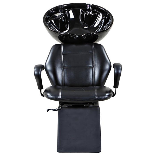 """Universal"" Black Beauty Salon Shampoo Chair & Bowl Unit Package Shampoo Backwash Units Icarus"