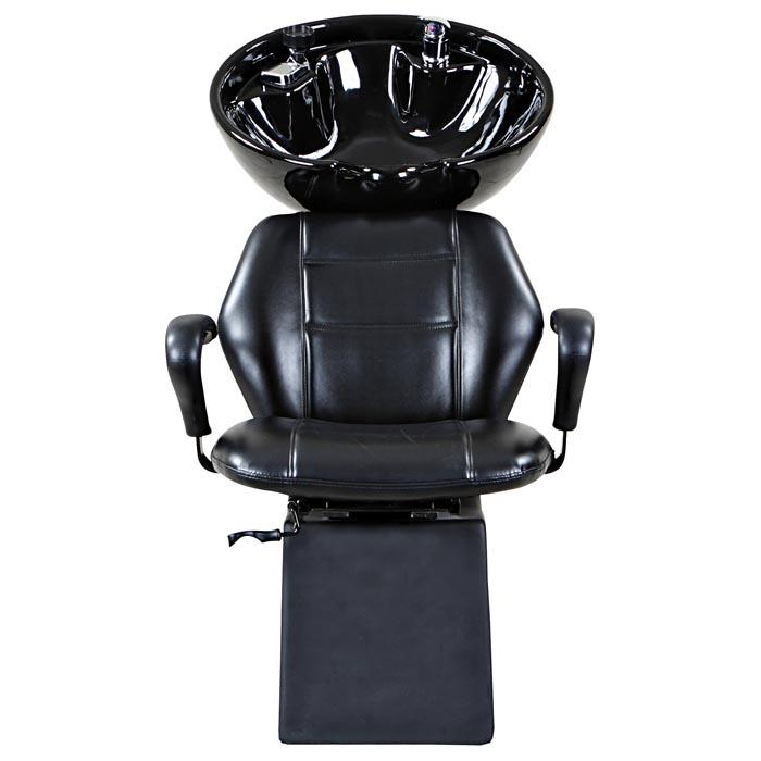 """Universal"" Black Beauty Salon Shampoo Chair & Bowl Unit Shampoo Backwash Units Icarus"