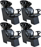 """Universal"" Black Beauty Salon Shampoo Chair & Bowl Unit Package Shampoo Backwash Units Icarus 4"