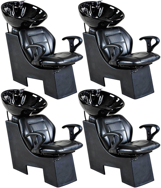"""Universal"" Black Beauty Salon Shampoo Chair & Bowl Unit Package"