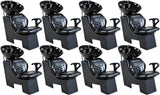 """Universal"" Black Beauty Salon Shampoo Chair & Bowl Unit Package Shampoo Backwash Units Icarus 8"