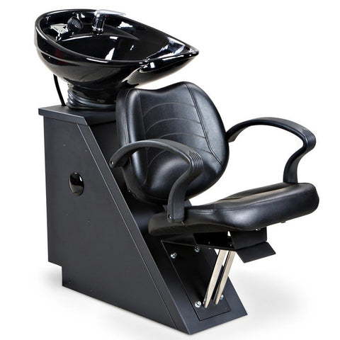 """Mae"" Black Beauty Salon Back wash Chair & Sink Bowl Unit"