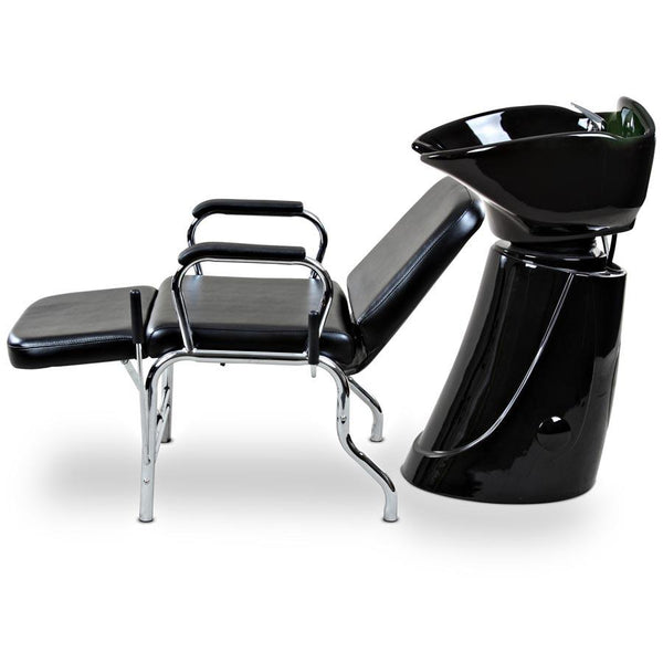 """Liger"" Reclining Salon Shampoo Chair Backwash Unit Package"