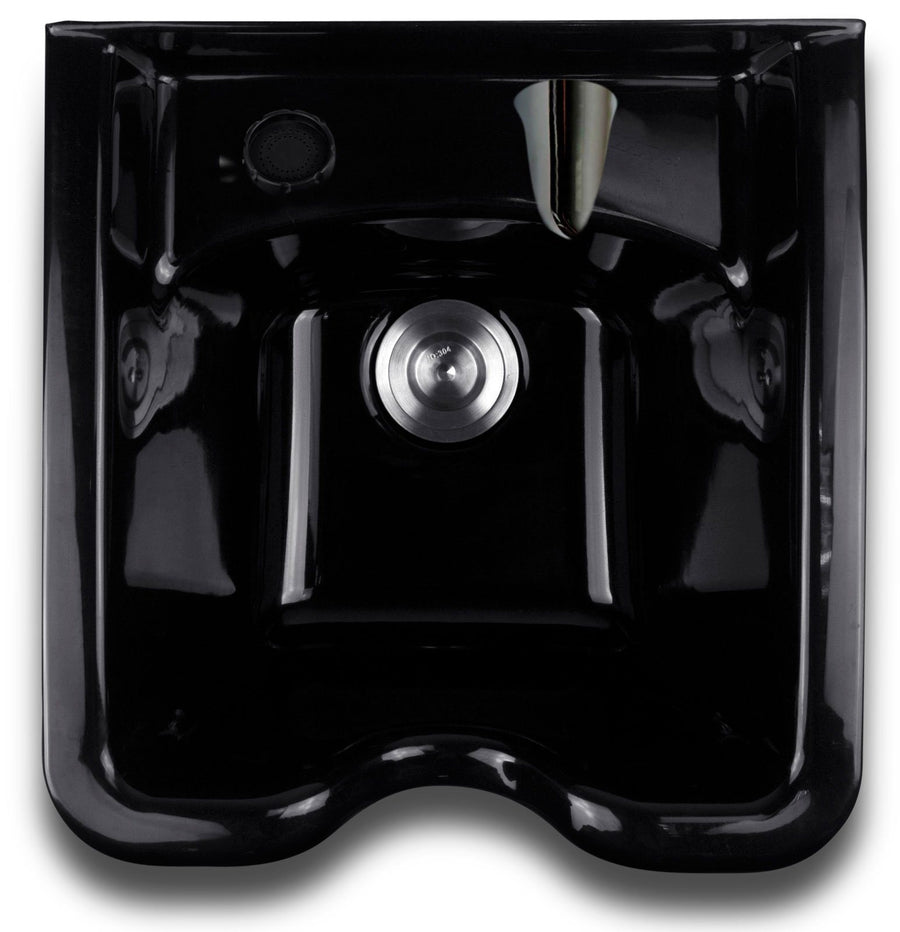 Square ABS Shampoo Bowl With Faucet and Sprayer Shampoo Backwash Units Icarus