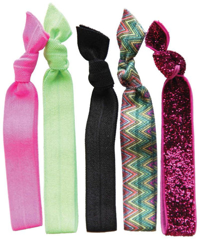 Dye Tie Hair Tie Set - 5 ct