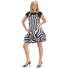 Beauty Love Frill Apron, Zebra