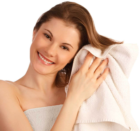 "Comfy White Microfiber  Hair Drying Towel - 19"" x 39"""