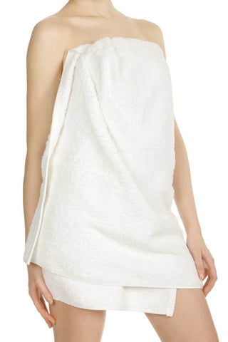 "Comfy White Microfiber Body Towel - 29"" x 55"""
