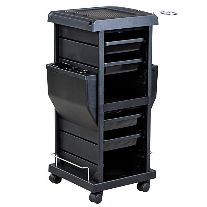 """Taranto"" Lockable Rollabout Trolley with Appliance Holder Trolleys Carts & Rollabouts Icarus"