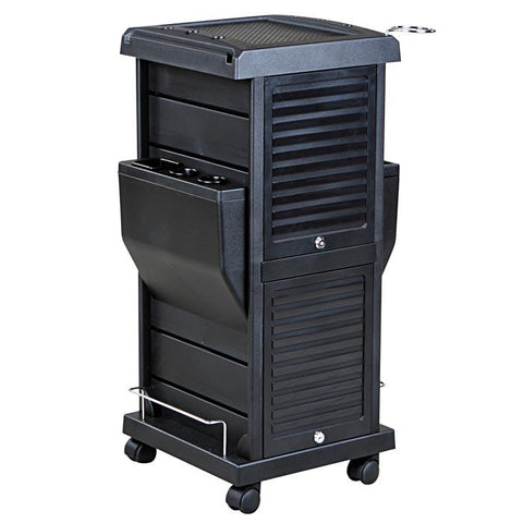 """Taranto"" Lockable Rollabout Trolley with Appliance Holder"
