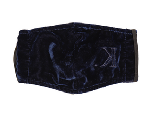 K. Signature Face Mask (Midnight Blue Velour)