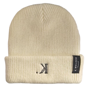 K. Signature Beanie (Cream)