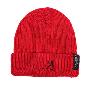K. Signature Beanie (Red)