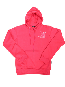 K. Chenille Pullover Hoodie (Hot Pink)