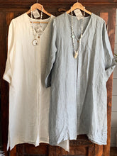OCEAN SOUL - LINEN DUSTER - NATURAL CREAM or SOFT GREY