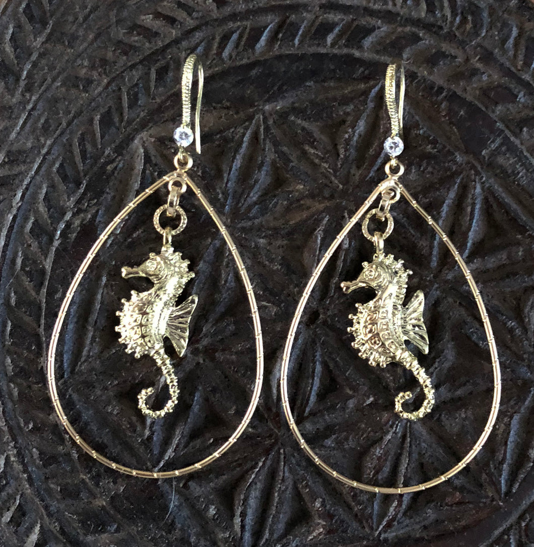 Kendall's Sea Horse Earrings