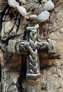 OCEAN SOUL - ETHIOPIAN SILVER COPTIC CROSS - SHORT NECKLACE
