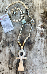 OCEAN SOUL - VINTAGE ANKH NECKLACE