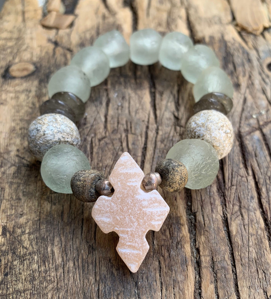 OCEAN SOUL - MATTE CROSS WITH RECYCLED GLASS - LIMITED EDITION