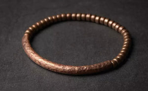 SIMPLY BEAUTIFUL - VIKING HAMMERED COPPER BRACELET