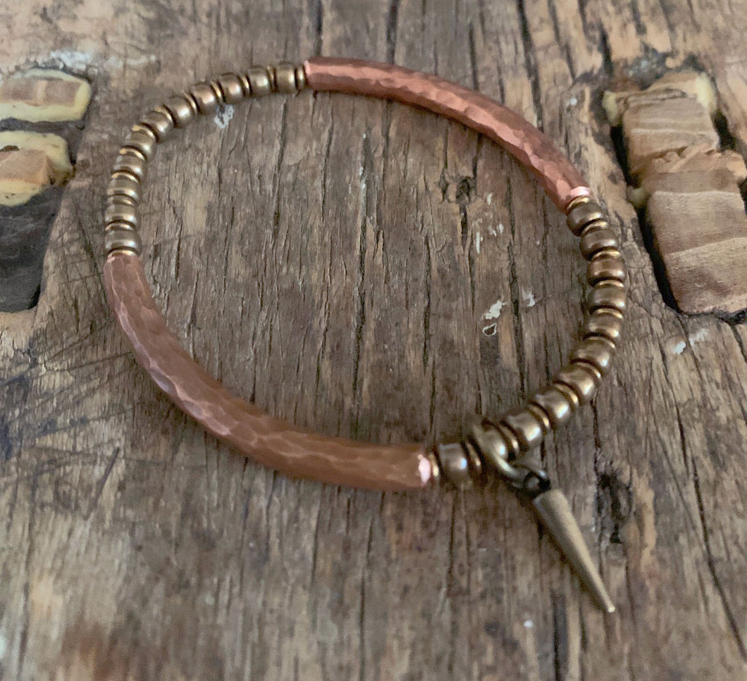 SIMPLY BEAUTIFUL - UNISEX-SCANDINAVIAN HAMMERED COPPER BRACELET