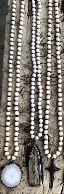 OCEAN SOUL - NATURAL WHITE STONE NECKLACES - SERIES 1