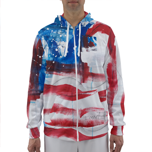 USA Unisex Adult Zip-Up Hoodie