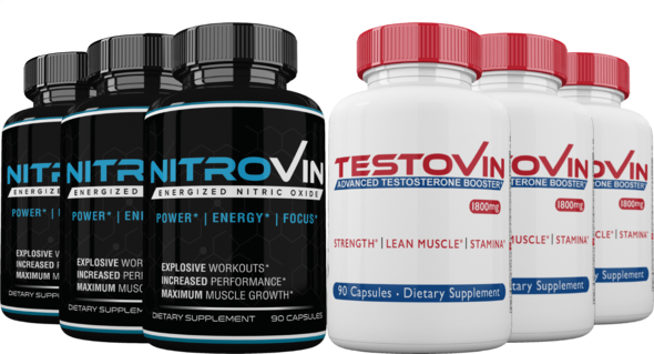 Nitric Oxide and T Booster - Ultimate Performance Stack for Men