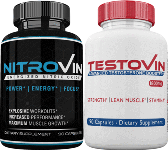 Nitrovin & Testovin - Pre Workout Nutrition Men's Performance Pack